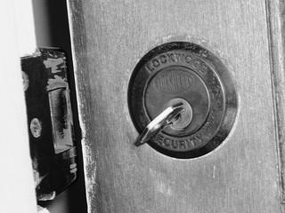 Image of an unlocked door